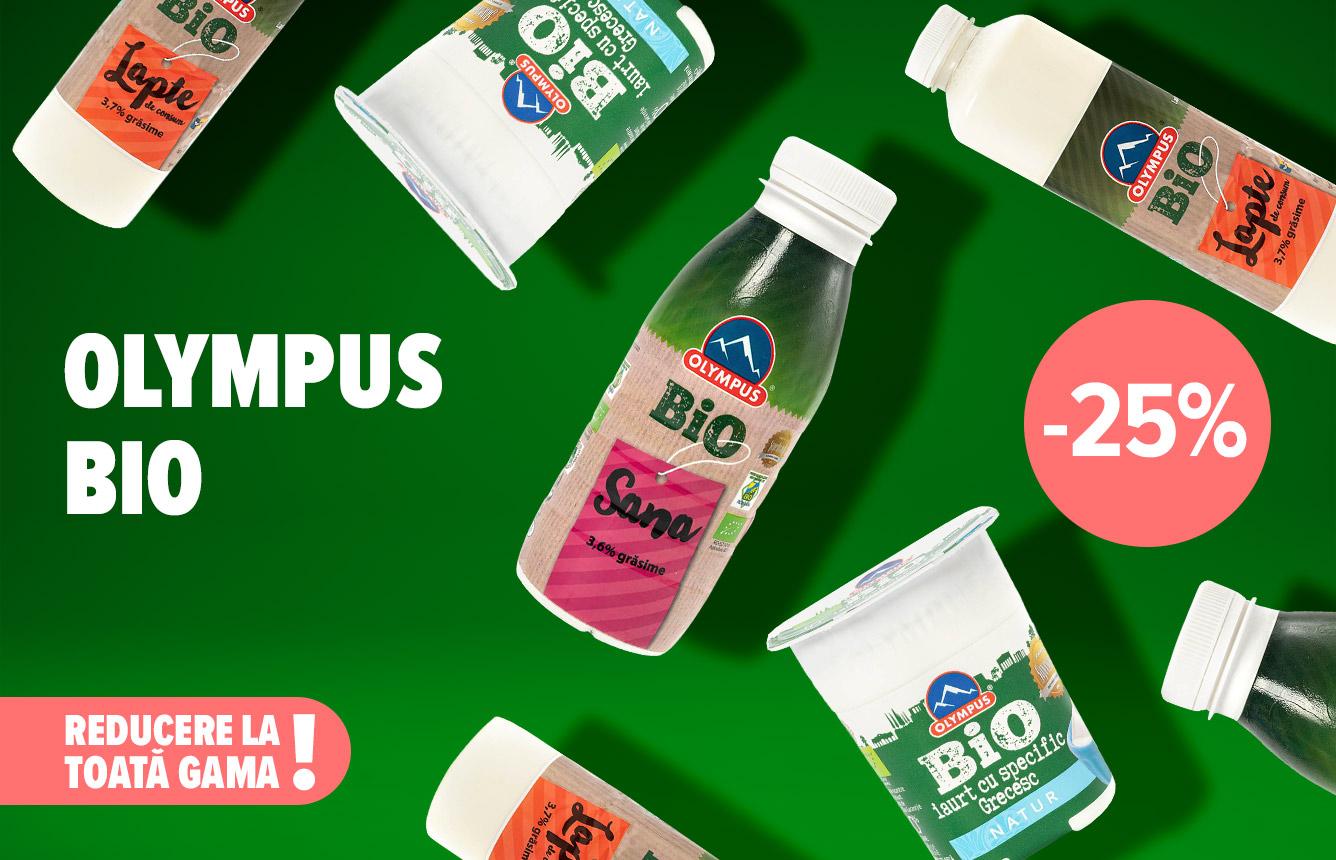 Astăzi alege BIO pentru că #SePune! Iar acum alegi și mai ușor: ai 25% reducere la toată gama Olympus Bio. Disponibilă la casa de marcat în limita stocului disponibil.