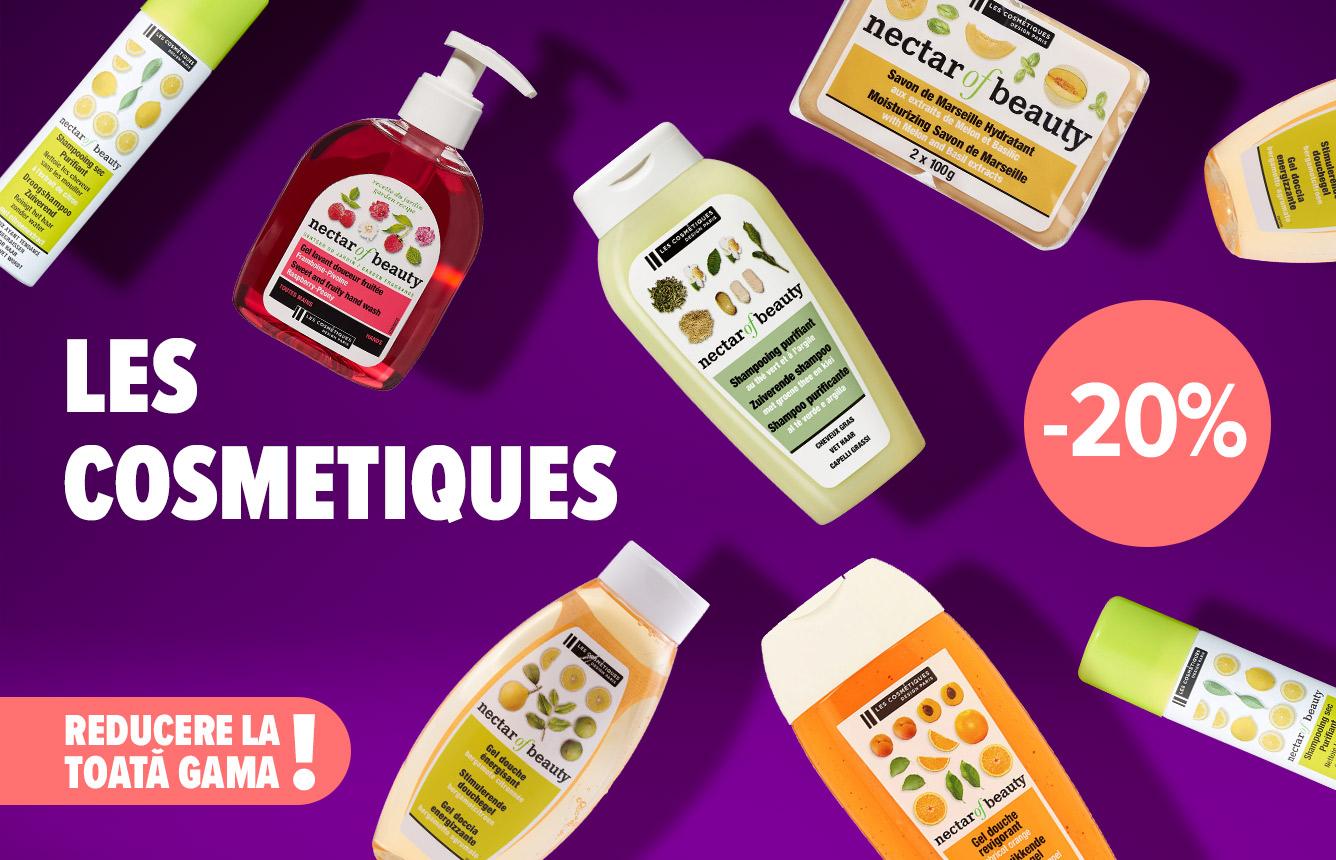 Cumperi pentru tine sau pentru cineva drag? Alege gama Les Cosmetiques, acum redusă cu 20%. Reducerea e disponibilă la casă, în limita stocului disponibil