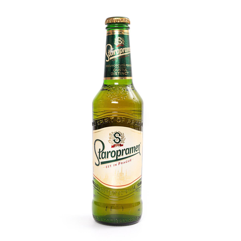 Bere blondă Staropramen 0.33L