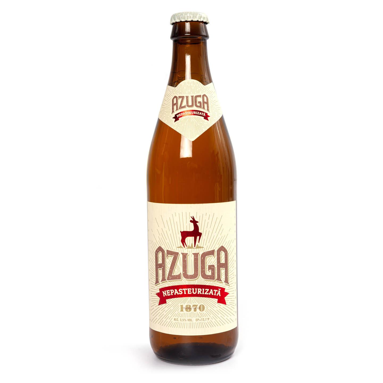 Bere nepasteurizată Azuga sticlă 0.5L