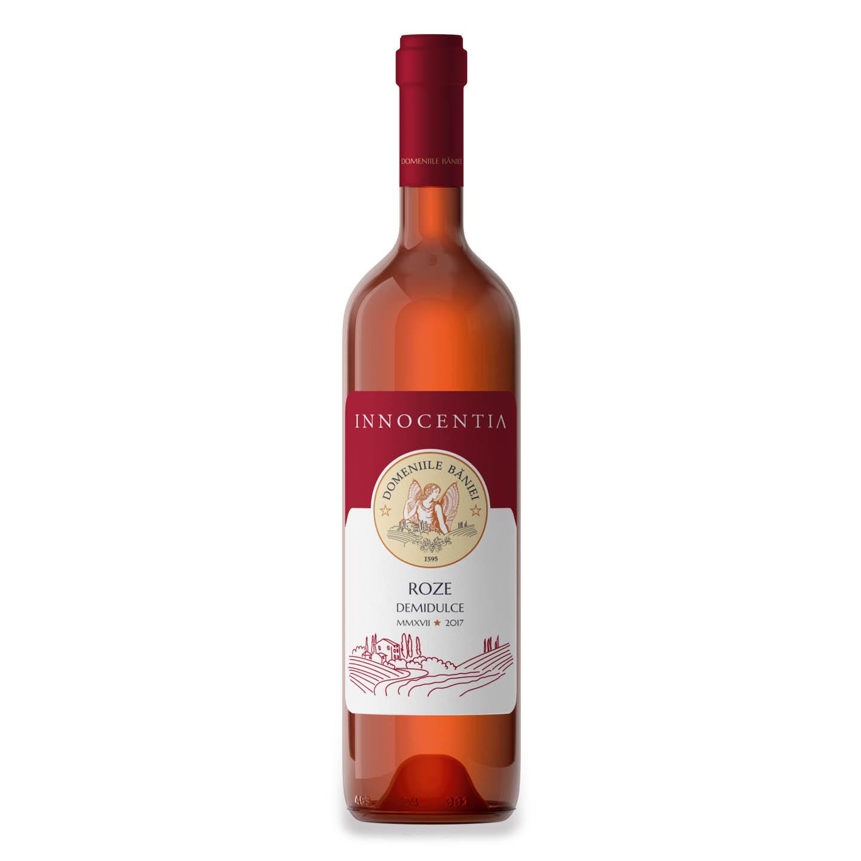 Vin Roze Innocentia Domeniile Băniei 0.75 L