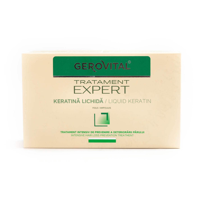 Tratament pentru păr cu Keratină Gerovital 10x10ml