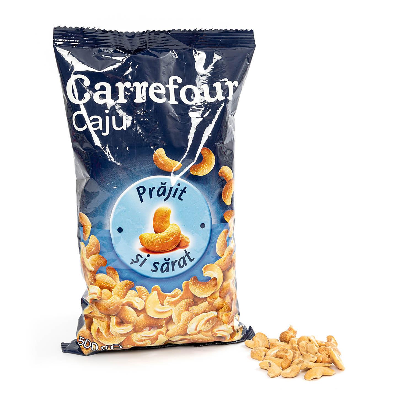Caju prăjit și sărat Carrefour 500g