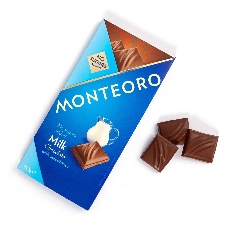 Ciocolată fără zahăr Monte 90g