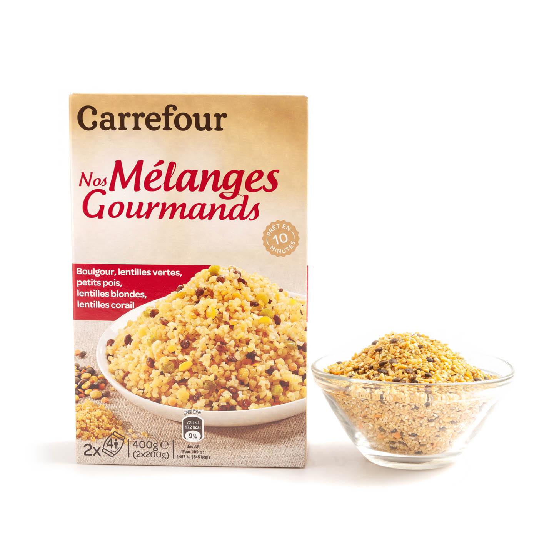 Mix bulgur linte Carrefour 2 x 200 g, per pachet