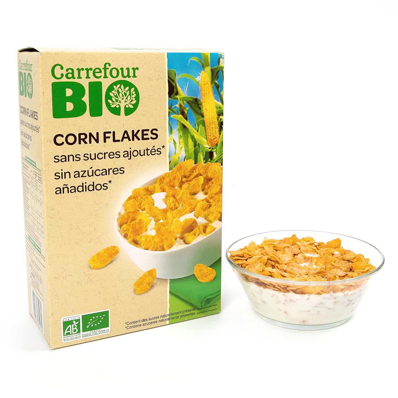 Fulgi de porumb fără zahăr Carrefour Bio 500g