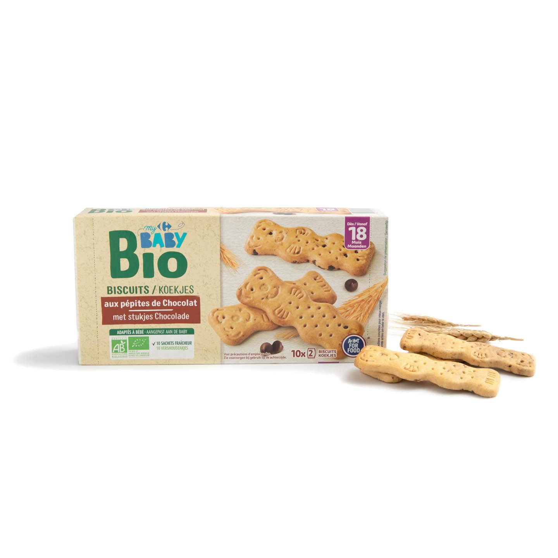 Biscuiți cu bucăți de ciocolată Carrefour Baby Bio 200g