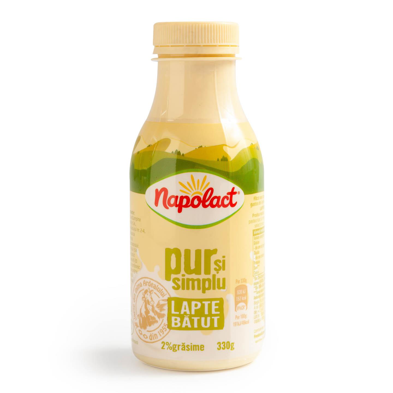 Lapte bătut 2% grăsime Napolact 330 g
