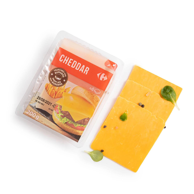 Brânză Cheddar felii Carrefour 200g