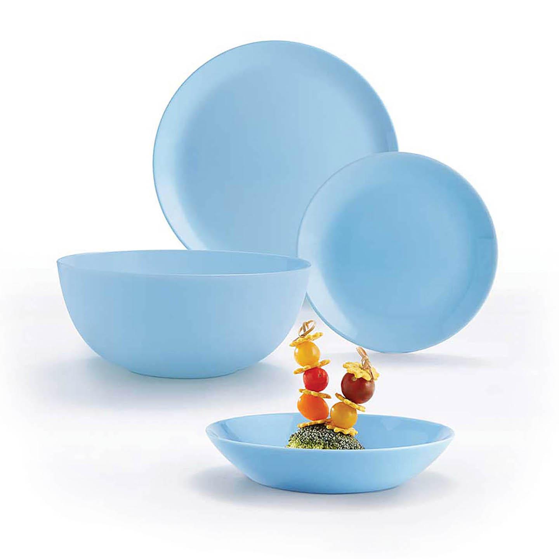 Serviciu de masă cu 19 piese Light Blue Diwali Luminarc