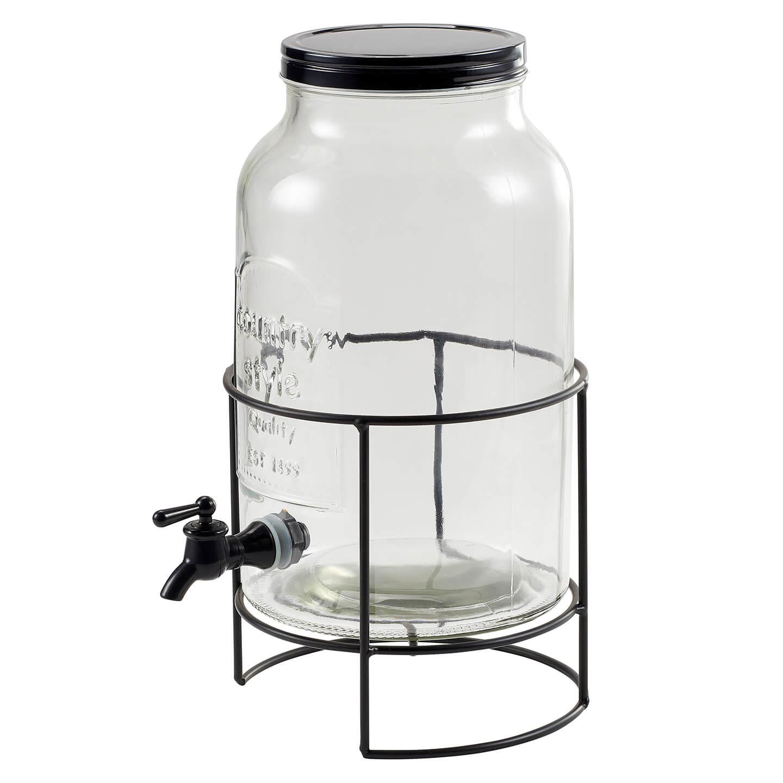 Dispenser din sticlă pentru băuturi răcoritoare 5.5L Carrefour