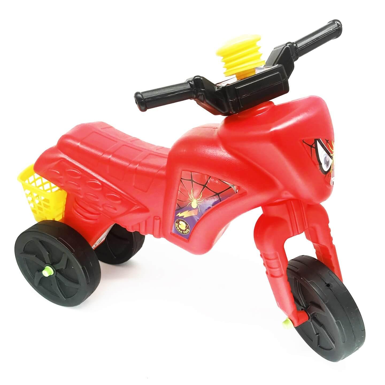 Tricicletă fără pedale cu claxon și coș