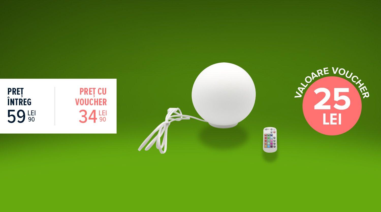 Spot LED RGB cu telecomandă