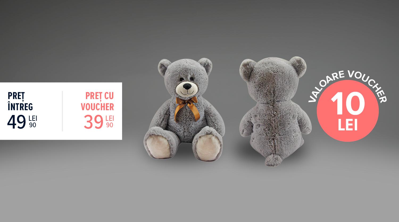 Urs de pluș gigant, gri, Carrefour