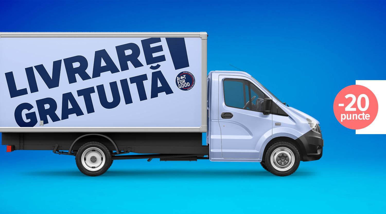 Voucher transport gratuit pe carrefour.ro