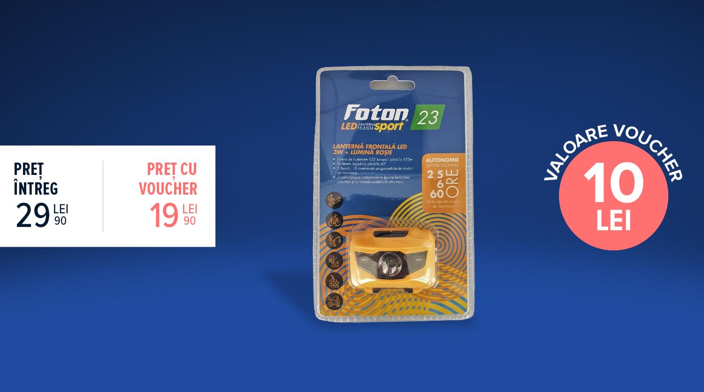 Lanternă frontală Foton Sport HL6504 LED 3W